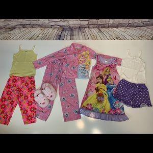 8pc Lot: Girls Pajama Sets - Disney Princesses